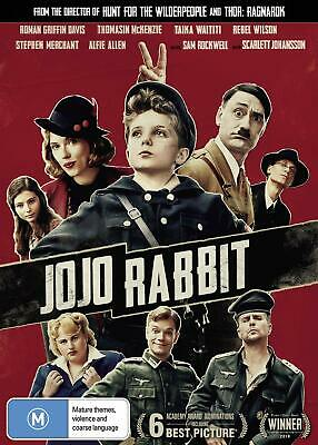 JOJO RABBIT (2019): Comedy, Imaginary Hitler, War, Satire - NEW Au Rg4 DVD