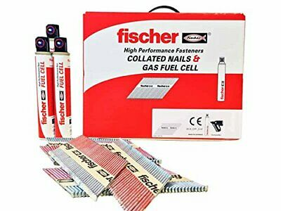 Fischer First Fix Galvanised Nail Gun Nails & Gas Trade Pack