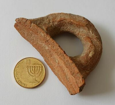 Ancient Roman Pottery Fragment Jug Handle - Legendary Masada Fortress Israel №12
