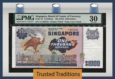 Tt Pk 16 1978 Singapore Board Of Comm. Of Currency 1000 Dollars Pmg 30 Very Fine