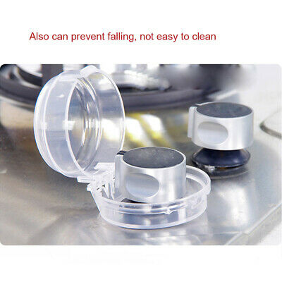 4Pcs Child Proof Clear Stove Knob Cover Protector for Oven Knobs Baby Safety