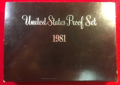 1981 United States Mint Proof Coin Set With Original Box