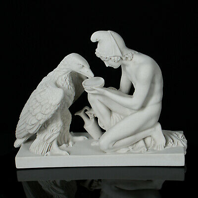 Marble sculpture of Ganymede and the Eagle, Classical sculpture, Gift, Art.