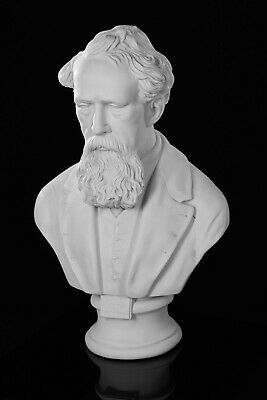 Charles Dickens, Marble Bust, Classical Sculpture, Classical Literature.