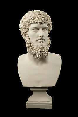 Large Marble bust of Roman Emperor Lucius Verus, Classical Sculpture. Art, Gift