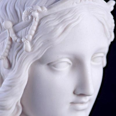 Marble Bust of a Princess Classical sculpture, Gift, Art, Ornament.
