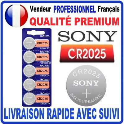 Pile CR2025 Lithium 3V SONY Pile bouton QUALITÉ PREMIUM SONY MADE IN JAPAN