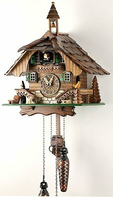 Clock of Cuckoo de La Jungle Black Wood Authentic with Mechanism Quartz 32cm