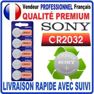 Pile CR2032 Lithium 3V SONY Pile bouton QUALITÉ PREMIUM SONY MADE IN JAPAN