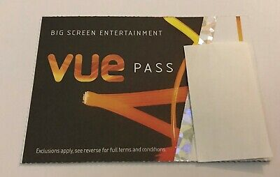 Vue 2D Cinema tickets - Non-London - Set of 2 Tickets