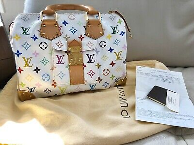 100% Auth Louis Vuitton's Multicolor Speedy 30 Box And Receipts!