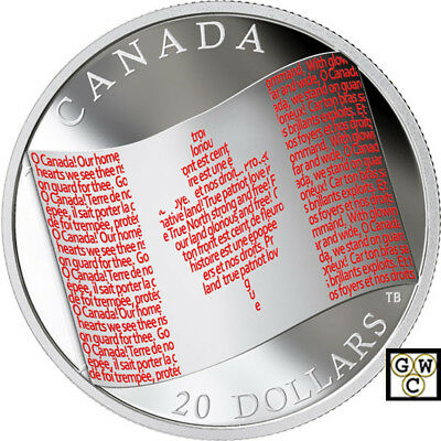 2018 'Canadian Flag' Colorized Proof $20 Silver Coin 1oz .9999 Fine (18543) OOAK
