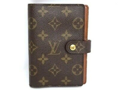 Auth LOUIS VUITTON Agenda PM Cover Monogram Spain $0 Shipping 31160536900 P