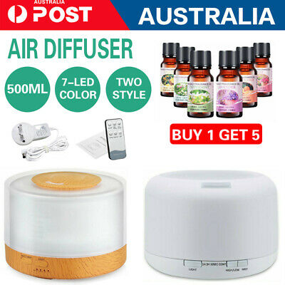 550mlL ED Air Humidifier Purifier Essential Oil Aroma Diffuser Aromatherapy Lamp