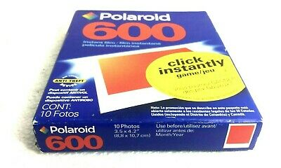 Polaroid 600 Color Instant Film 10 Photos New In Box SEALED Exp. 03/04