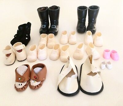 Vintage Bulk Doll Shoes And Boots x 28 - 14 Pairs - 1950' s - 1970's