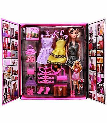 Barbie Fashion Doll with Dresses and Accessories