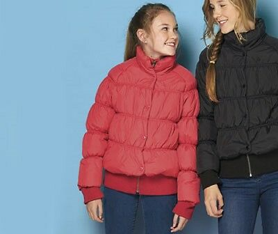 Girls hot pink padded puffa jacket from French Connection FCUK age 10-11 years