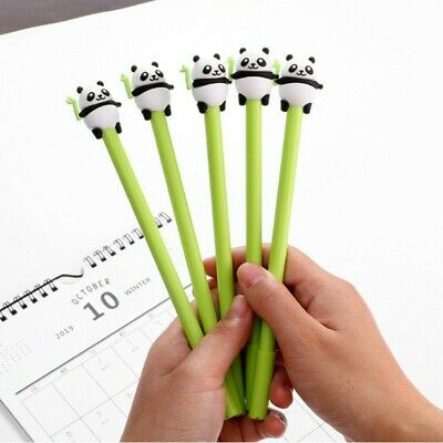 Cute Panda Gel Pen With Bamboo, novelty fun pen, animal stationery, kawaii party