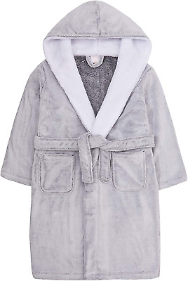 Metzuyan Child Girls Frosted Robe Snuggle 7-13 YRS Grey