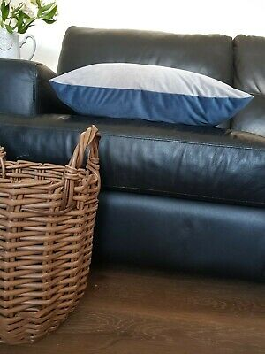 22 inch blue and grey soft plush twin velvet cushion cover. Why buy from next?