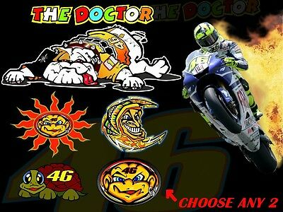 """Rossi /""""THE DOCTOR/"""" Gothic Sun and Moon Sticker"""