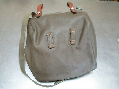 Swiss Army Canvas Leather Salt Pepper Bread Pannier Satchel Bag