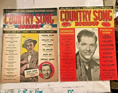 2 1952/3 Country Song Roundup Cowboy Western Music Whitman Hank Snow Rodgers ++
