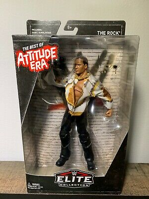 WWE Elite THE ROCK ACTION FIGURE Best of WWF Attitude Era Exclusive NEW