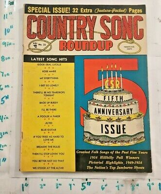 1954 5th Anniversary Issue Country Song Roundup Hillbilly Poll Winners Photos ++