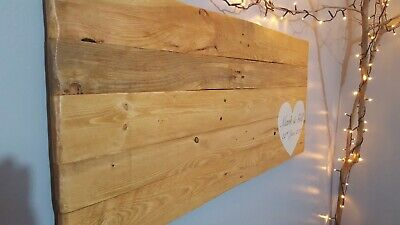Wooden wedding guest book board personalised