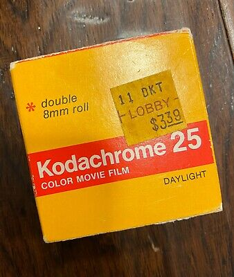 Vintage Kodachrome 25 Color Movie Film Double 8 mm Roll Daylight KM 459 Sealed