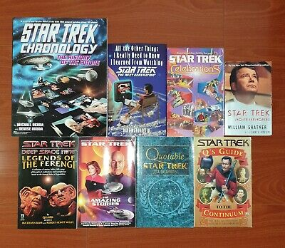 Lot of 8 Star Trek books - Used