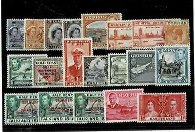 10996- British Colonies, collection of stamps, mixed */** MH/MNH