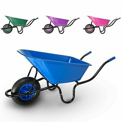 90L Equestrian Garden Builders Plastic Wheelbarrow with Puncture Proof Tyre