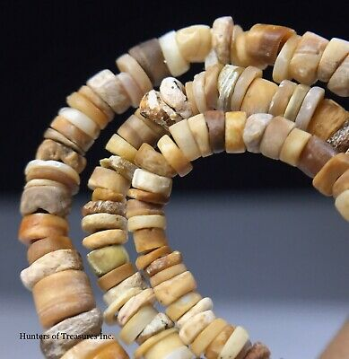 Necklace Ancient Pre Columbian White Shell Beads Moche Native Indian