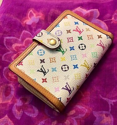 AUTHENTIC  LOUIS VUITTON Murakami Multicolore Viennois Wallet Blanc LIMITED ED!