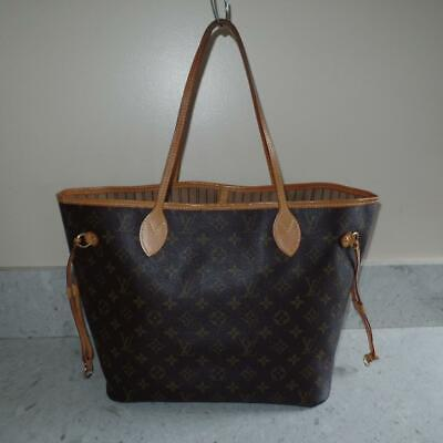 Louis Vuitton FRANCE Monogram Neverfull MM Shoulder Bag NO POUCH