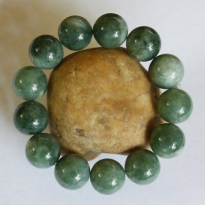 100% Natural Jade CERTIFIED (A) Beautiful Untreated Green Jadeite Beads Bracelet