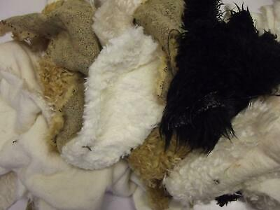 Assorted CURLY Faux Fur Fabric Material Waste Offcuts 1KG