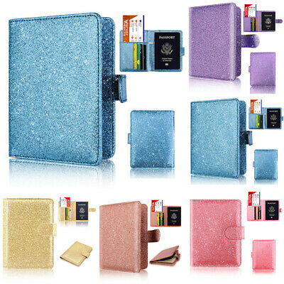 Hot Passport Holder Cover Wallet RFID Blocking Leather Card Case Travel NEW
