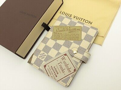 Louis Vuitton Authentic Damier AZUR Labels Agenda fonctionnel PM Diary cover LV