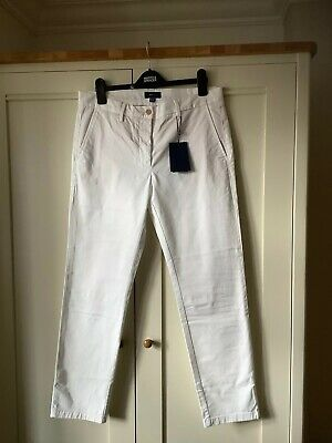 New With Tags Size 14 Ladies White GANT chinos (4046)
