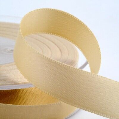 Cream Satin Ribbon Double Sided Full Reel 3mm 6mm 10mm 16mm 25mm 38mm 50mm