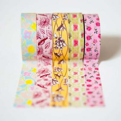 5 Rolls winter Washi Tape set papercraft scrapbook planner supply mittens cocoa