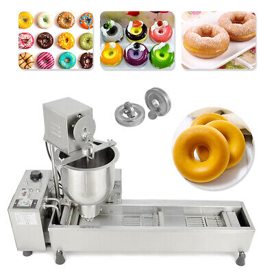 Commercial Automatic Donut Maker 220V Donut Making Machine 3 Molds Size Fryer