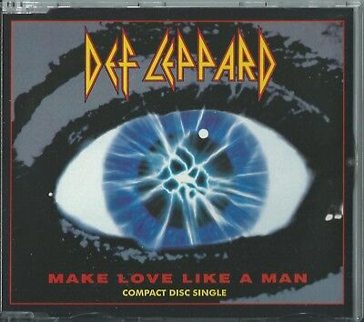 Def Leppard - Make Love Like A Man / Action 1992 Uk 4 Track Cd Single Lepcd 7