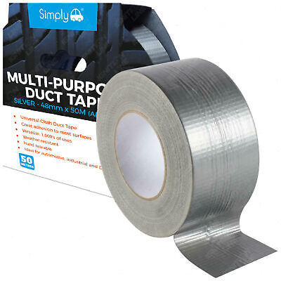 Silver Duct Gaffer Cloth Tape Multi-Purpose Adhesive Water Resistant 48mm x 50M