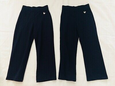 2 x Pairs of Girls Black jersey School Trousers ~Brand New ~To Fit Age 3-4 Years