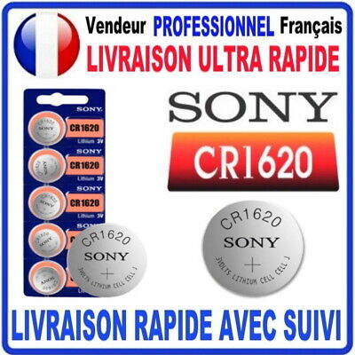Pile CR1620 Lithium 3V SONY Pile bouton QUALITÉ PREMIUM SONY MADE IN JAPAN